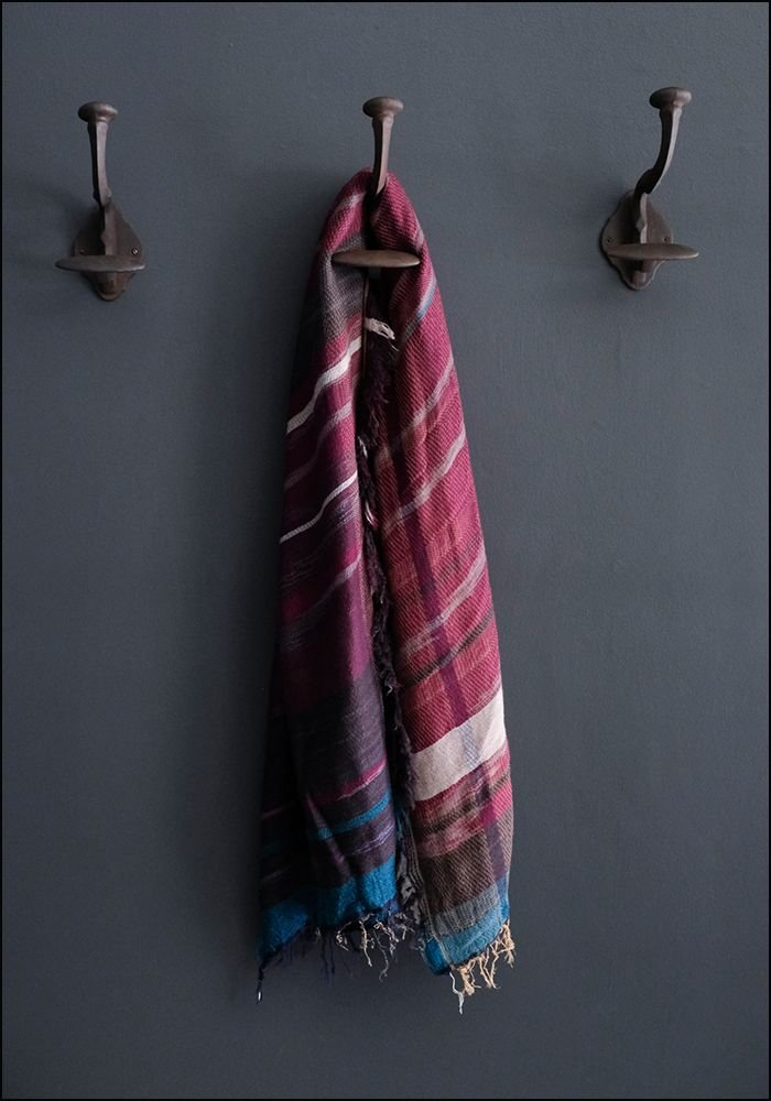 Tamaki Niime Tamaki Niime Oversized Wool Cotton Blend Japanese Scarf