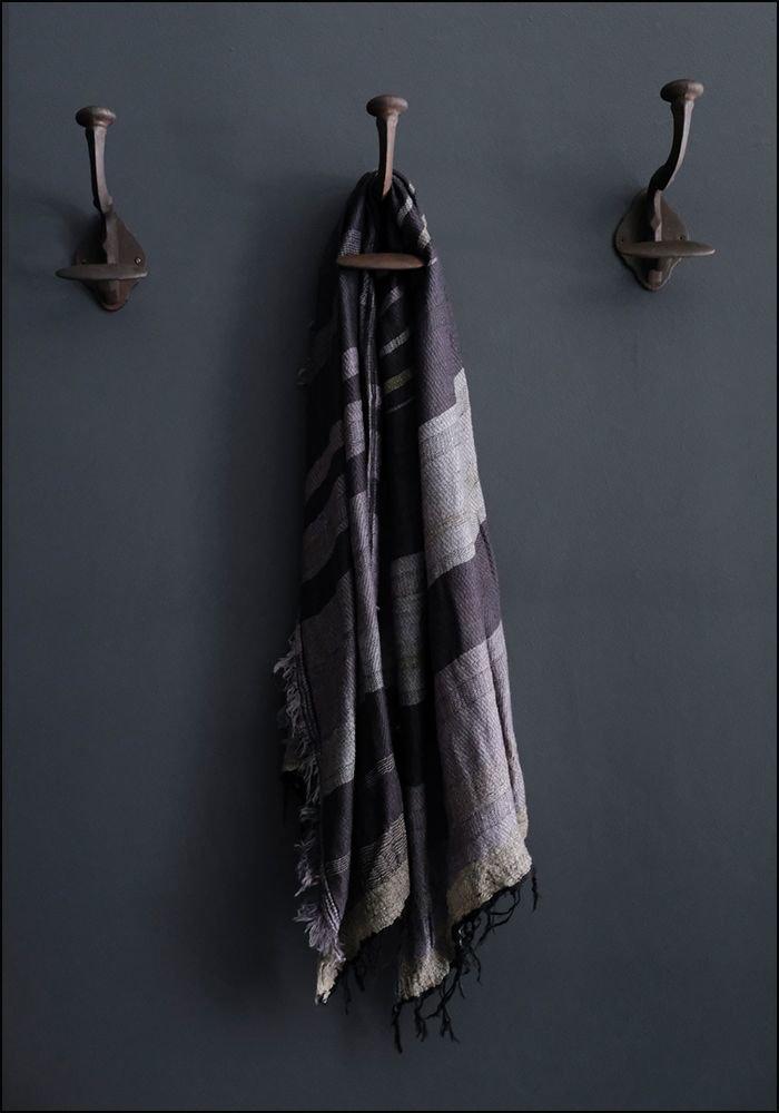 Tamaki Niime Tamaki Niime Oversized Wool Cotton Blend Japanese Scarf