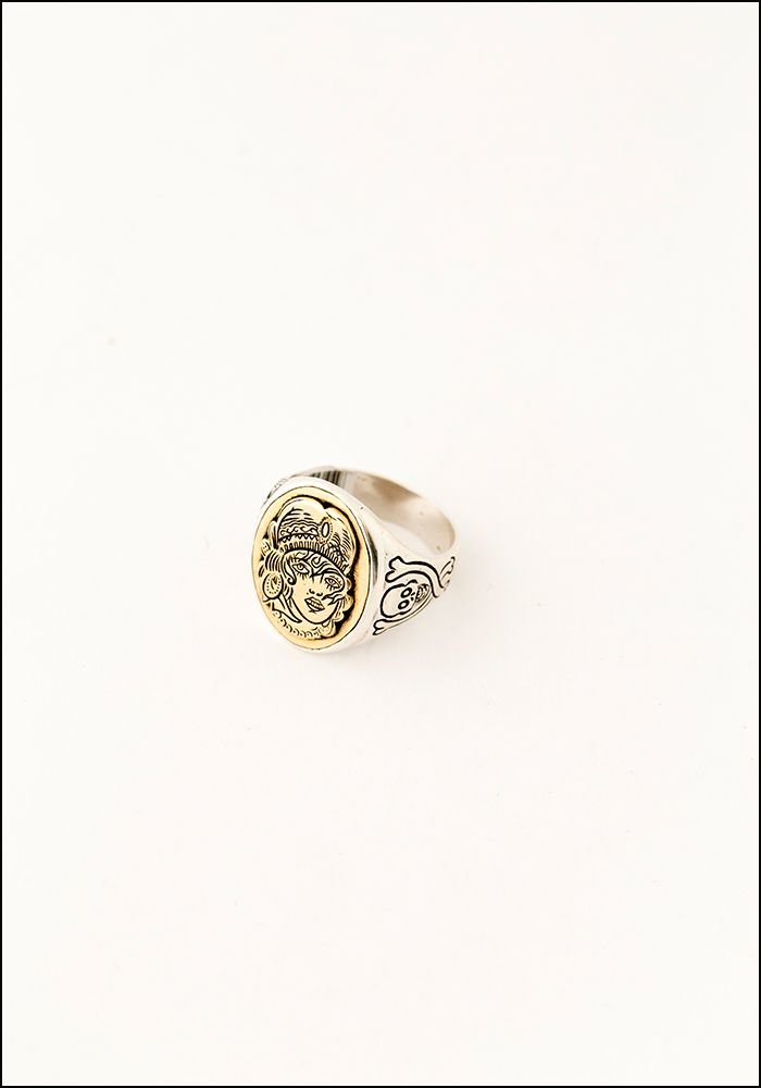 LHN LHN Nomad Silver and Brass Signet Ring