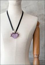 Tita Lopez Tita Lopez Amethyst Milagro Heart Necklace