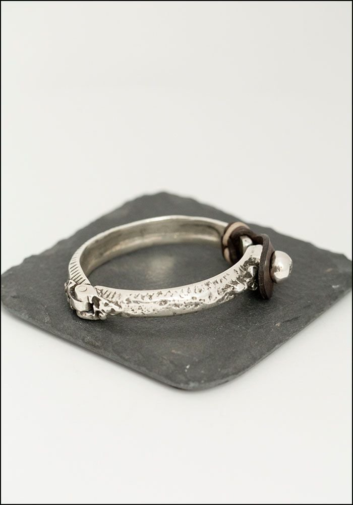 CXC Leather Industrial Bracelet