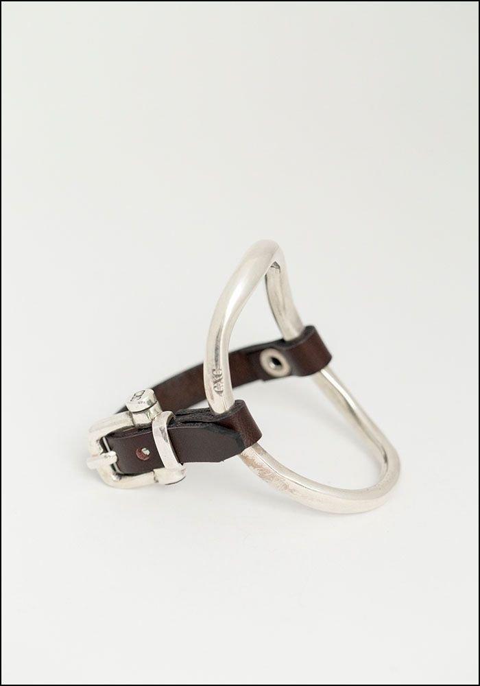 CXC Leather Oval Side Bracelet