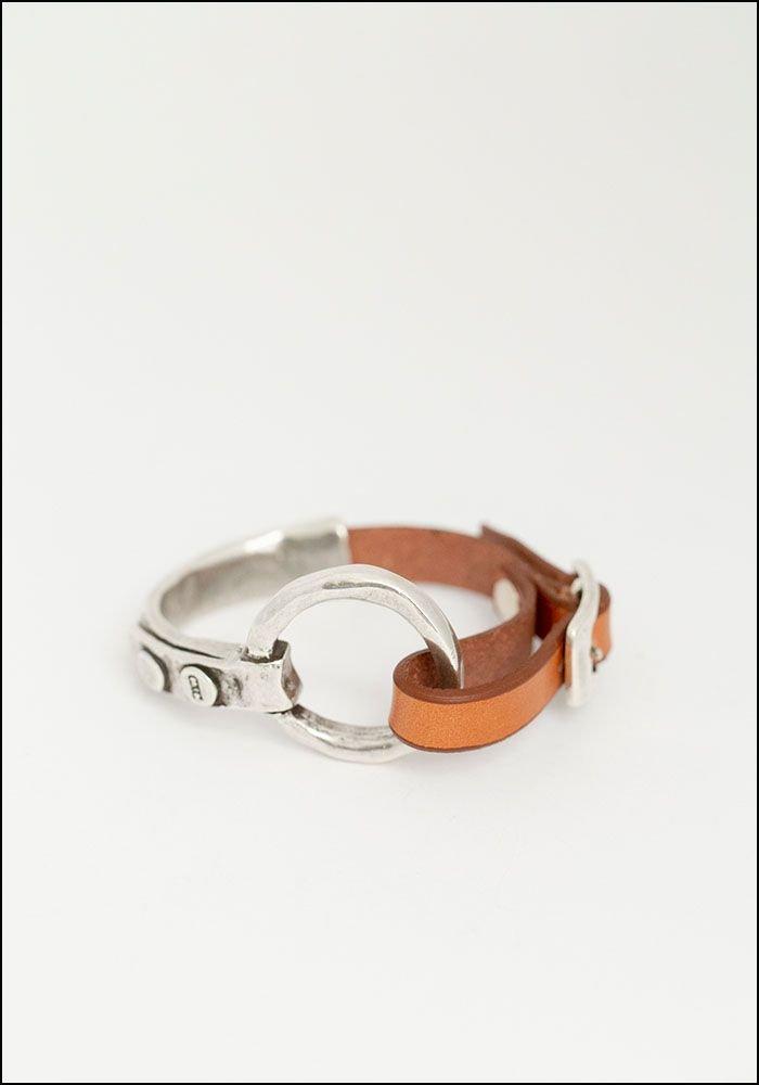 CXC Leather O Ring Bracelet