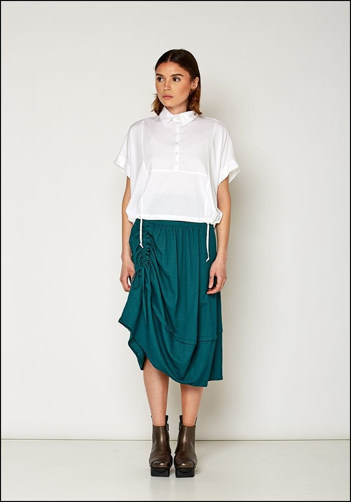 Lurdes Bergada Cropped Boxy Button Down Shirt u19435