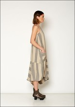Lurdes Bergada Striped Sleevless Dress u19115