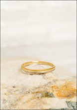 Variance Objects White 14KT Gold 22KT Seamed Band