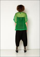 Nude Nude Apple Green Silk Sheer T-Shirt