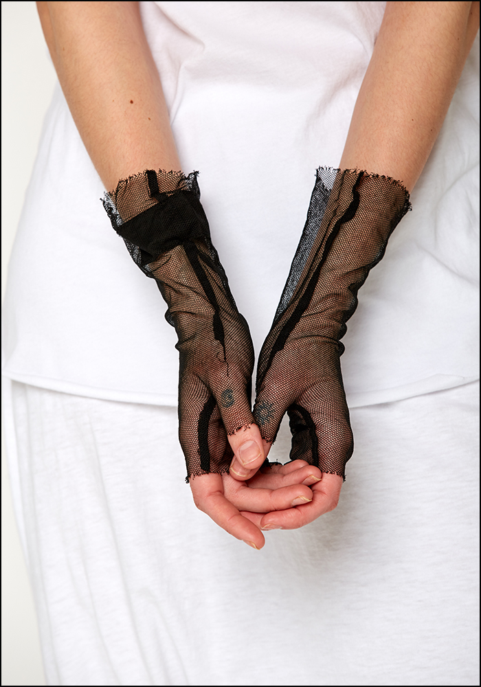 Rundholz Dip Cotton Mesh Fingerless Gloves
