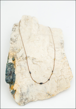 Maragaret Solow Margaret Solow Black Diamond and 23KT Layering Necklace
