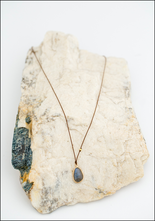 Maragaret Solow Margaret Solow Labradorite and 14KT Gold Drop Necklace