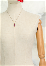 Maragaret Solow Margaret Solow Ruby and 14KT Gold Drop Necklace