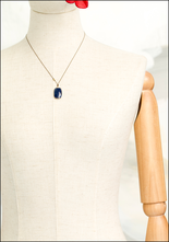 Maragaret Solow Margaret Solow Sapphire and 14KT Gold Drop Necklace