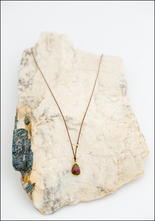 Maragaret Solow Margaret Solow Watermelon Tourmaline and 14KT Drop Necklace
