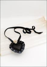 Tita Lopez Tita Lopez Obsidian Spike Milagro Heart Necklace