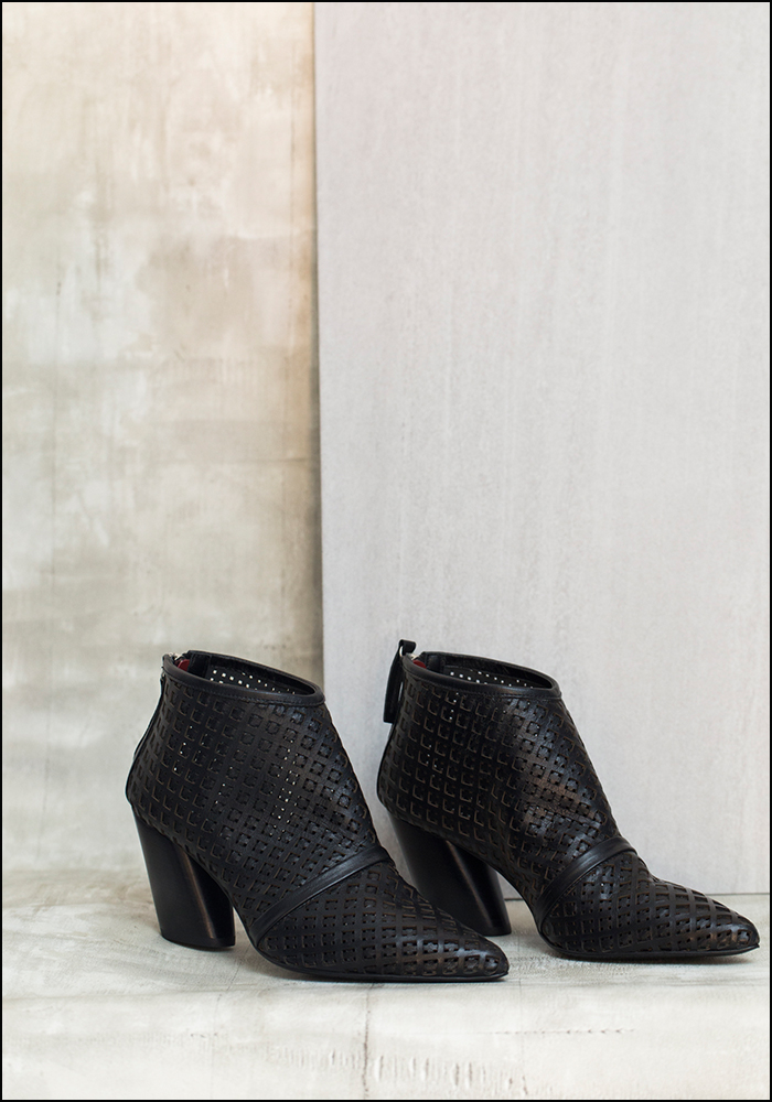 Halmanera Halmanera Woven Leather Bootie