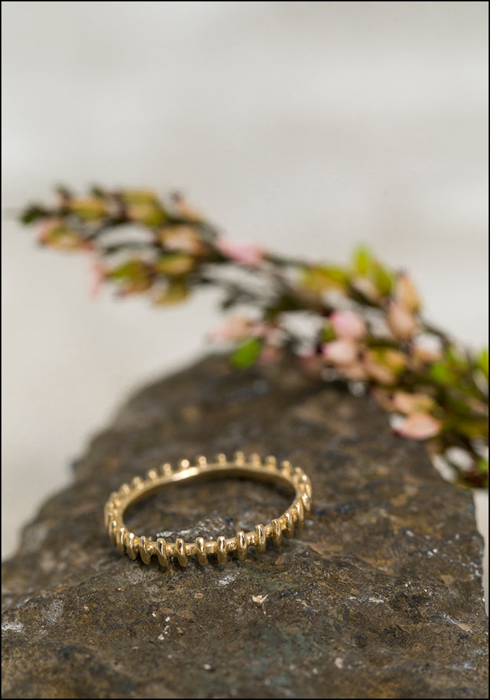 Lio and Linn Lio and Linn 14KT Gate Eternity Ring