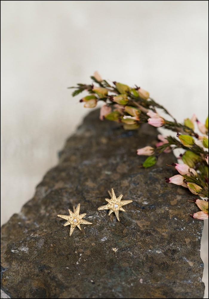 Robin Haley Robin Haley 14KT Tiny Star Diamond Studs