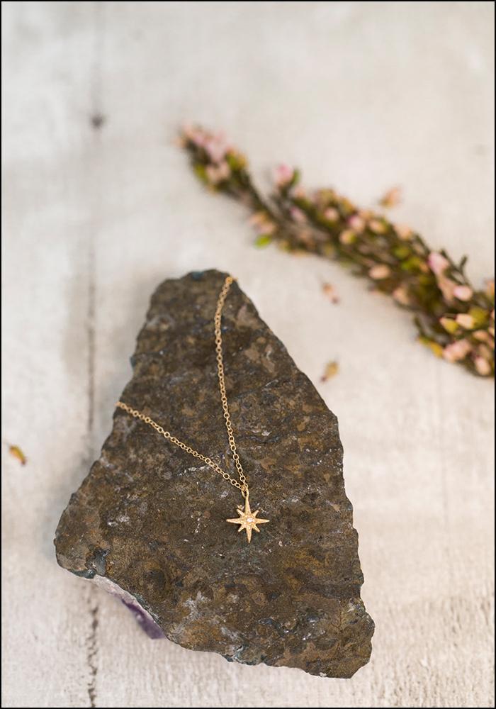 Robin Haley Robin Haley 14KT Tiny Star Diamond Necklace