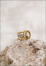 Angostura Bronze Silver and Pearl Ring Set