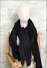 Claudio Cutuli Cotton Mesh and Leather Patch Scarf