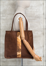 Totem Salvaged Totem Salvaged Tan and Copper Mini Tote 956TDST