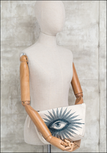 Totem Salvaged Totem Salvaged Cream and Navy Eye Pouch 457TEP