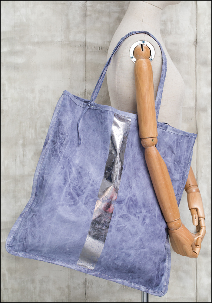 Totem Salvaged Totem Salvaged Soft Faded Blue Tote 893BLKST