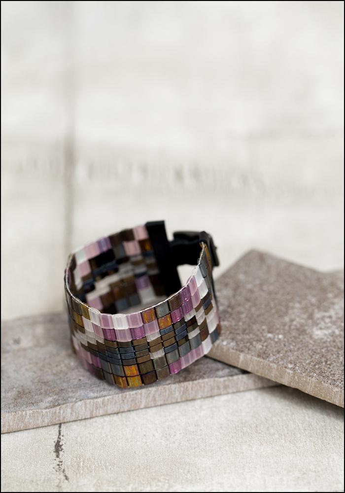 Julie Rofman Julie Rofman Bold Handwoven Tile Bracelet