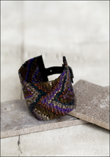 Julie Rofman Julie Rofman Wide Handwoven Tile Bracelet