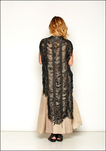 Claudio Cutuli Laser Cut Leather Fringe Vest