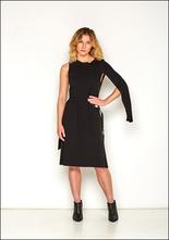 NostraSantissima NostraSantissima Black Cotton Single Sleeve Buckle Dress 99D D43