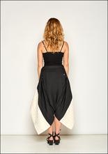 NostraSantissima NostraSantissima White and Black Cotton Drop Pant Skirt 99D P18