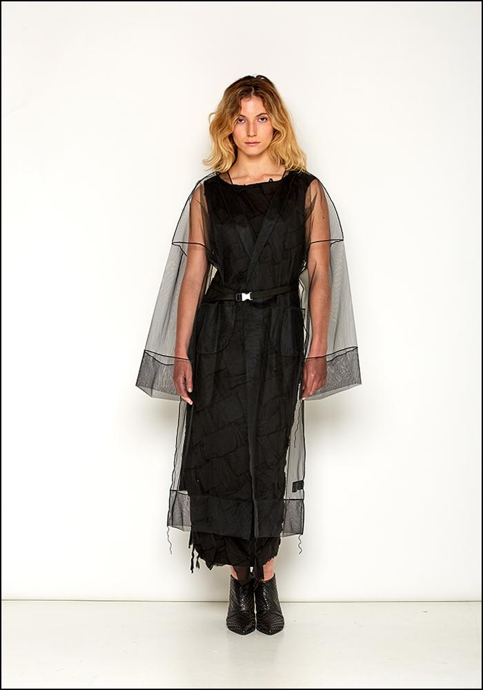 NostraSantissima NostraSantissima Black Tulle Overcoat