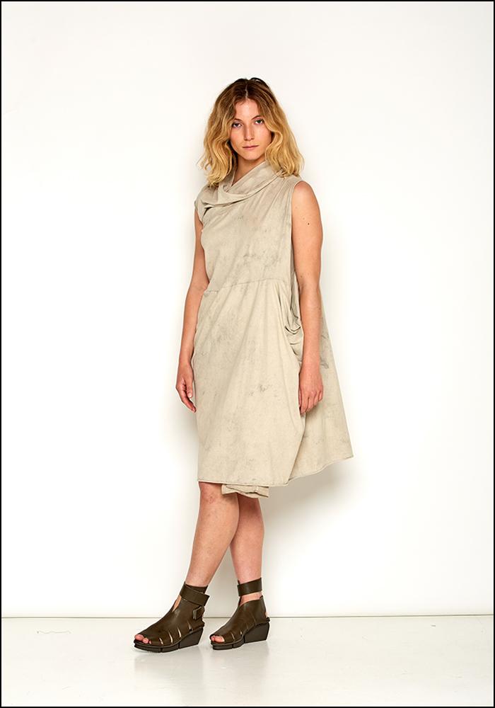 Rundholz DIP Asymmetric Cap Sleeve Dress