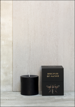 Tatine 3 x 3 Black Beeswax Pillar Candle