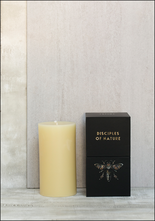 Tatine 3 x 6 Cream Beeswax Pillar Candle
