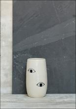 Demetria Chappo Black and White Spirit Eye Vase