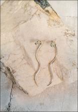 De La Rosa Silver Snake Ear Jacket Earrings