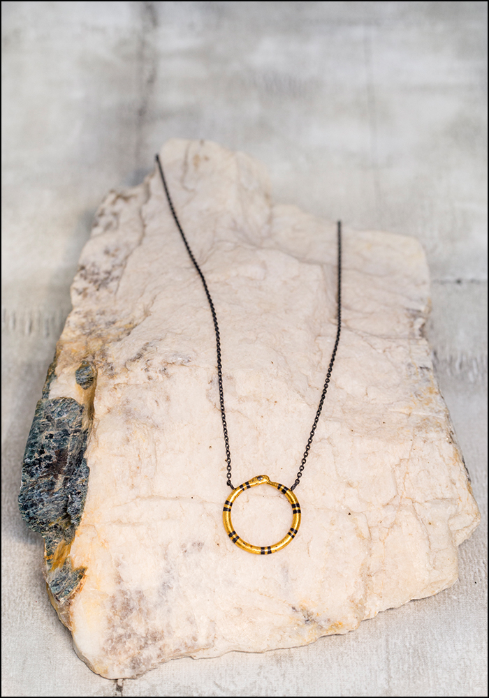 Acanthus Golden Ouroboros Necklace
