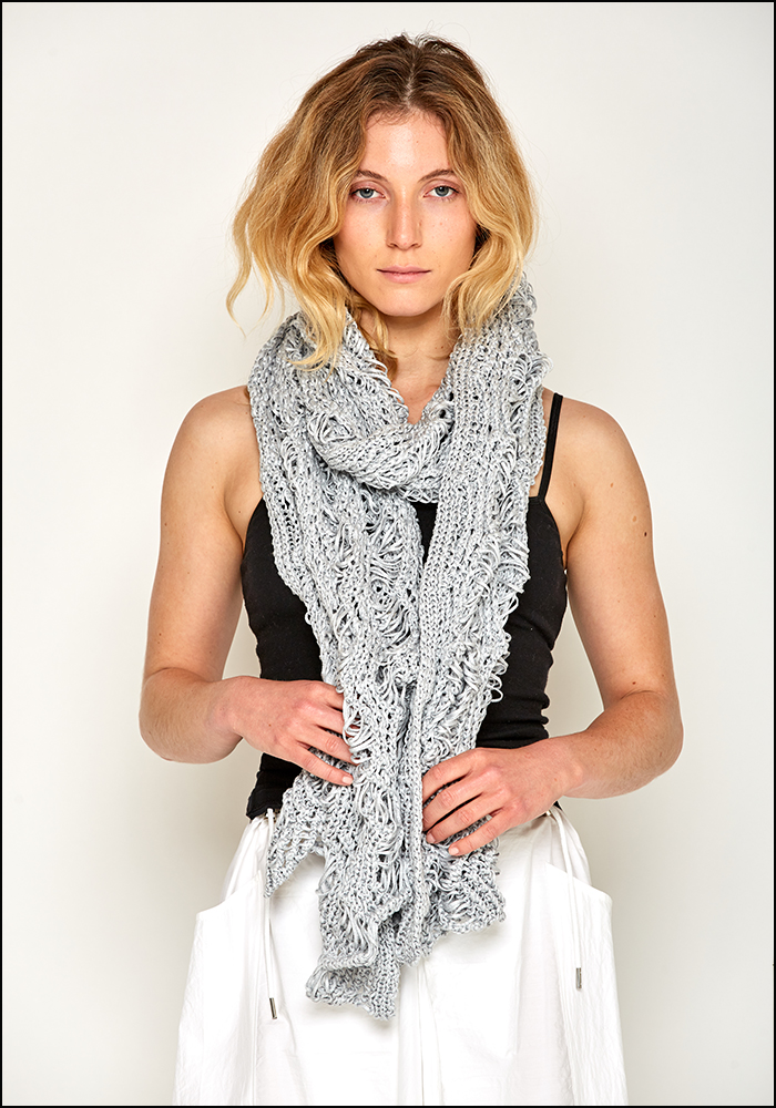 Claudio Cutuli Loose Knit Viscose Scarf
