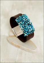Martell Martell Studio Apatite and Japanese Cube Bead Cuff Bracelet