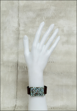 Martell Martell Studio Larimer, Pyrite and Japanese Cube Bead Cuff Bracelet
