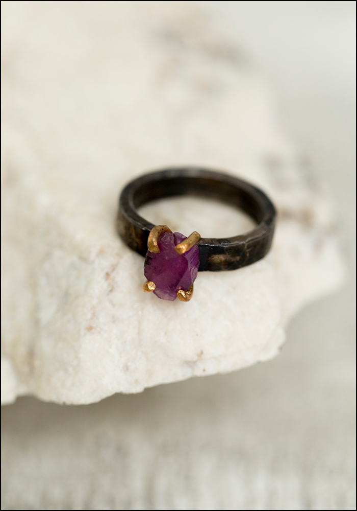 Variance Objects Sapphire Ring