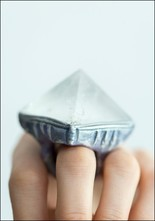 Adina Mills Clear Quartz Pyramid Ring