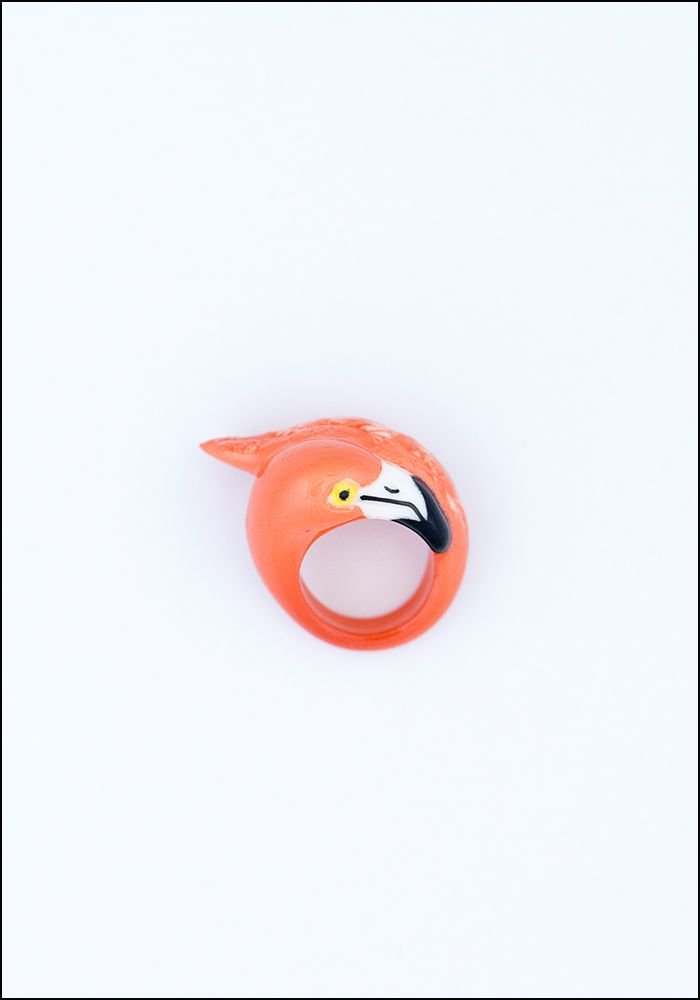 Nach Bijoux Porcelain Flamingo Ring
