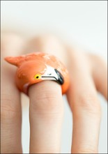 Nach Bijoux Porcelain Flamingo Ring