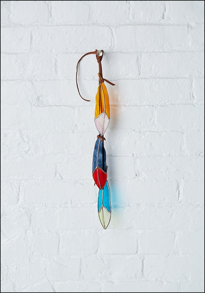 Colin Adrian Stained Glass Feather