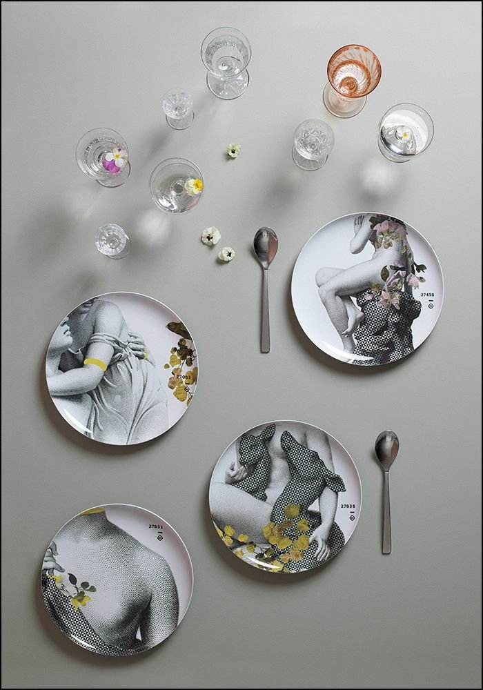 Ibride Grey Yuan Four Plate Set