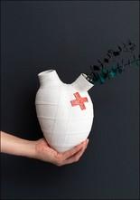 """Porcelain Heart Wall Vase """"Lovestruck"""""""