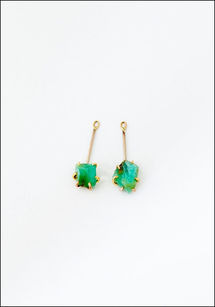 Variance Object Peruvian Opal Drop Earringss